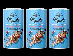 Weisse Schokolade & Früchte-Müsli OneDayMore