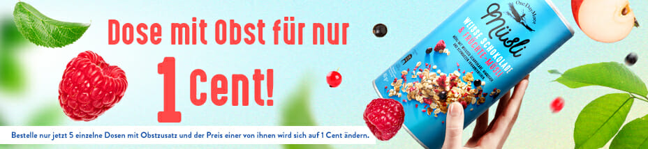 Dose mit obst fur 1 cent OneDayMore
