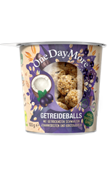 Getreideballs Schwarze Johannisbeere und Kokos OneDayMore