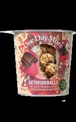 Getreideballs Zartbitterschokolade und Himbeere OneDayMore
