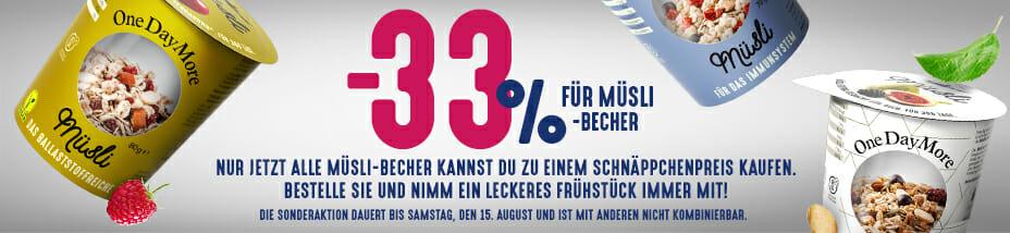 -33% fur Musli - Becher